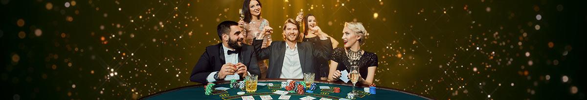 Vznemirjenje ob igranju casino iger s kartami